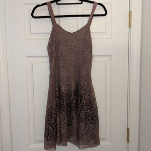 Free People lace overlay lavender dress size M